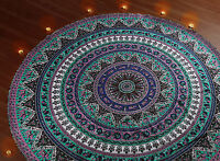 Indian Round Hippie Mandala Tapestry Boho Beach Throw Yoga Mat Rug Decor