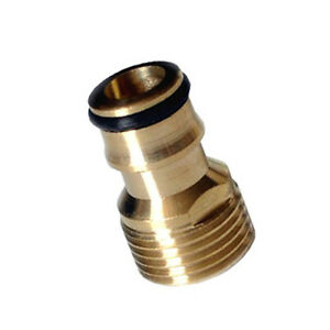 1-2-034-Garden-Brass-Threaded-Hose-Tap-Adaptor-Water-Pipe-Connector-Tube-Fitting-x