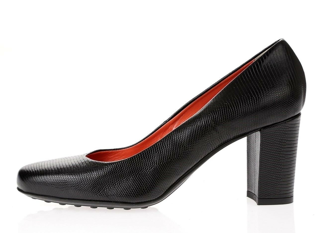 Womens AQUATALIA black snake print leather pumps shoes sz. sz. sz. 9.5 M NEW 50e3cc