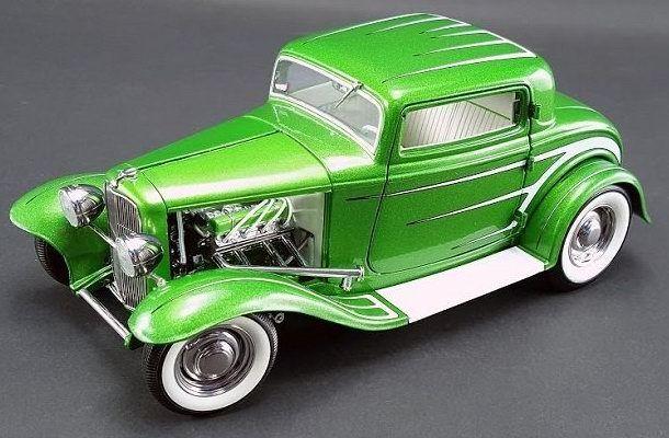 Acme a1805011 1932 ford 3 fenster grand national zwei reihen grüne 1,18 skala