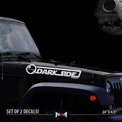 2x Set Of Jeep Wrangler Rubicon hood Truck Vinyl Stickers Decals CJ JK