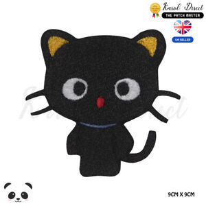 Black-Cat-Cute-Disney-Embroidered-Iron-On-Sew-On-Patch-Badge-For-Clothes-etc