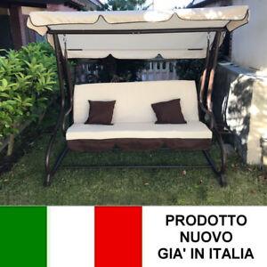 Dondolo da giardino 3 posti con tetto parasole divano for Divano a dondolo