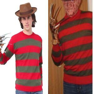 277cde99e83 Boy s Men s Freddy Krueger Style Red   Green Stripe Knitted Jumper ...