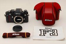 【Top Mint S/N 198xxxx】Nikon F3 Black 35mm SLR Film Camera w/Case From Japan #307