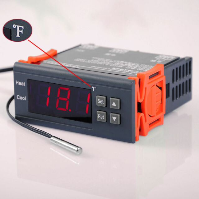 Fahrenheit DC 12V Temperature F Controller Temp Sensor incubation thermostat