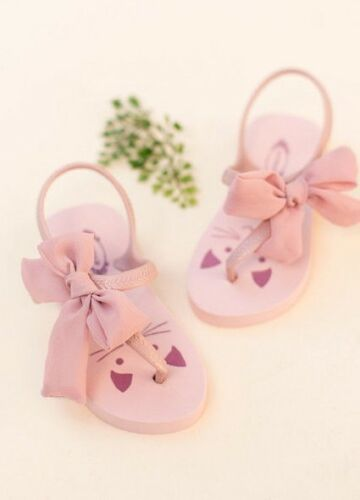❤Free Ship❤NWT Joyfolie  Flip Flops Cat Kitty in Blush Girls Size 10T//11T