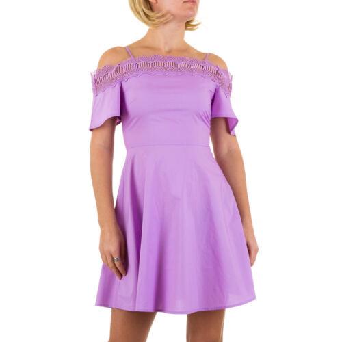 Damen Spitzen Mini Damen Kleid M Lila 3076 Eurodite