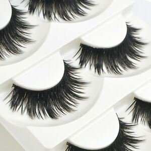 5-Pairs-Soft-Handmade-Nautral-Makeup-Thick-False-Eyelashes-Eye-Lashes-Long-Black