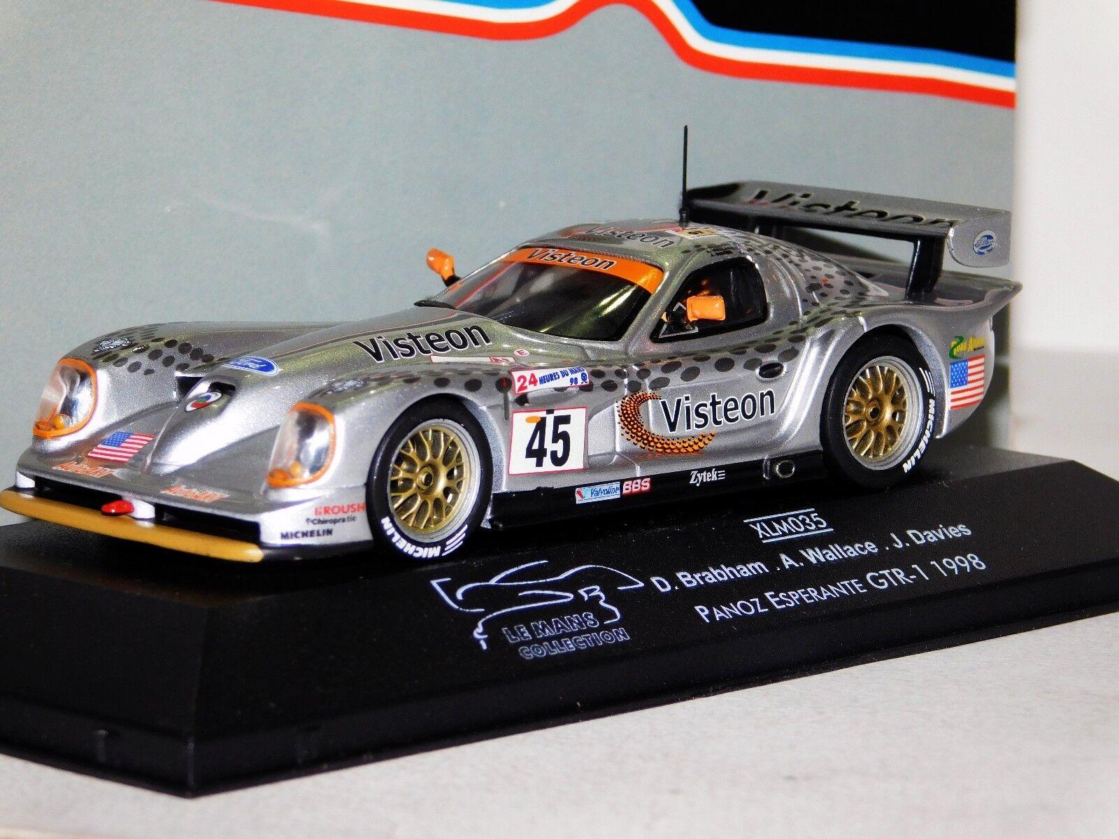en promociones de estadios Panoz Ligas GTR1  45 45 45 Brabham Wallace Davies Limited Edition Mans 1998 Onyx XLM035 1 43  n ° 1 en línea