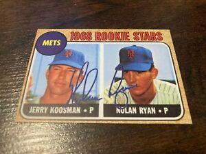 Nolan Ryan & Jerry Koosman 1968 Topps Rookie Stars Facsimile Auto RC RP #177 $