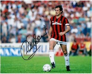 Foto Autografata di Franco Baresi Milan Signed Photo