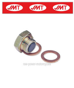 Honda CBF 600 S 2004 Magnetic Oil Sump Plug //Washer x 2 8340415
