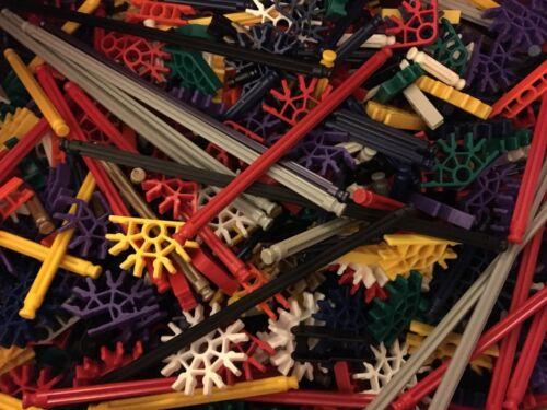 100 KNEX RODS /& CONNECTORS Random Mixed K/'nex Replacement Parts Pieces Lot