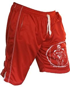 BODY-BUILDING-SHORTS-RED-GYM-CLOTHING-fast-delivery-large-quads-fast-deliver