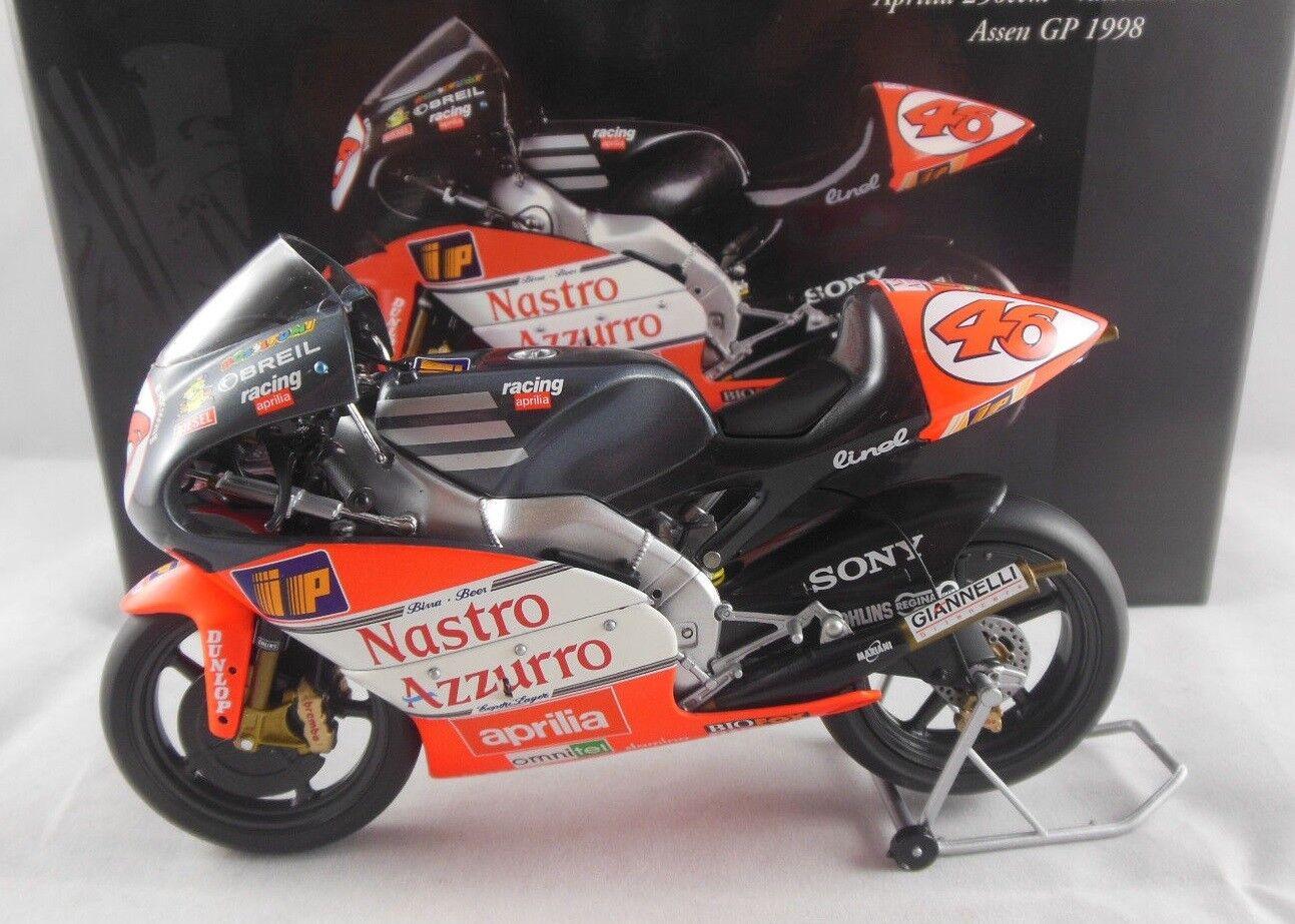 Minichamps 122 980046 APRILIA 250ccm Valentino Rossi  assen GRAND PRIX 1998 1 12  le prix le plus bas