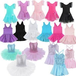 Girls-Gymnastic-Ballet-Leotard-Tutu-Dress-Ballerina-Dance-Wear-Outfit-Costume