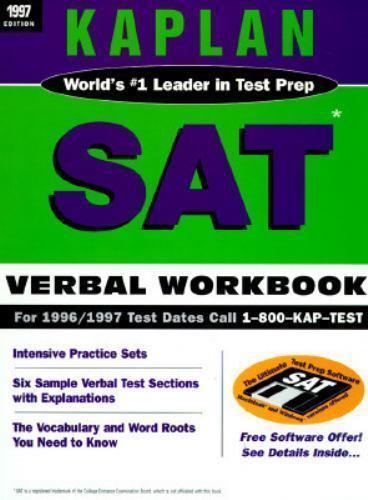 Kaplan SAT Verbal Workbook 1997 by Stanley Kaplan