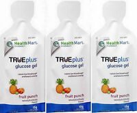 Health Mart Glucose Gel , 15gm Quick Absorb Glucose Fruit Punch ( 3 Pouches )