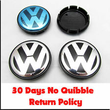 VW VOLKSWAGEN ALLOY WHEEL CENTER CAPS x4 55mm 56mm PASSAT POLO GOLF BORA LUPO 4x