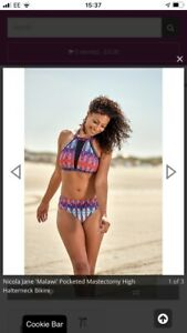 Nicola Jane Lindos Swimsuit S915 Pocketed Post Surgery Swimwear Mastectomy Swim