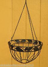Black Arcadia Garden Products CB42 12 Solstice Round Hanging Basket
