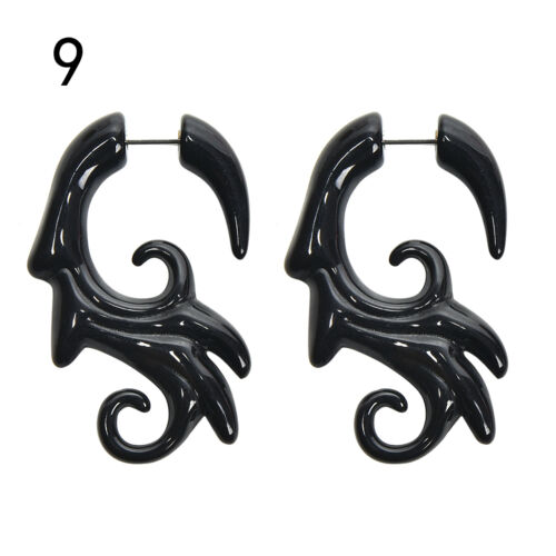 Acrylic Spiral Gauge Ear Plug Fake Cheater Stretcher Flesh Earrings PiercingJ Jy