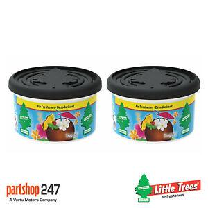 2 x Fiber Can Tropical Magic Tree Little Trees Car Home Air Freshener Freshener
