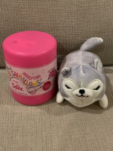 """NEW Sealed Squishmallows For Justice Mystery Series 2 Strawberry Husky Dog 4"""""""