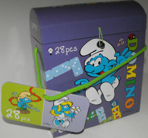 Smurfs-Domino-Game-28-Pieces-New-in-Box-Made-in-China