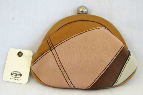 FIFTY FOUR FOSSIL BON BON PINK MULTI COIN PURSE//WALLET