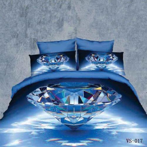 100/% Satin Cotton TRUYOO Print 3D Effect Bedding Set Duvet Cover