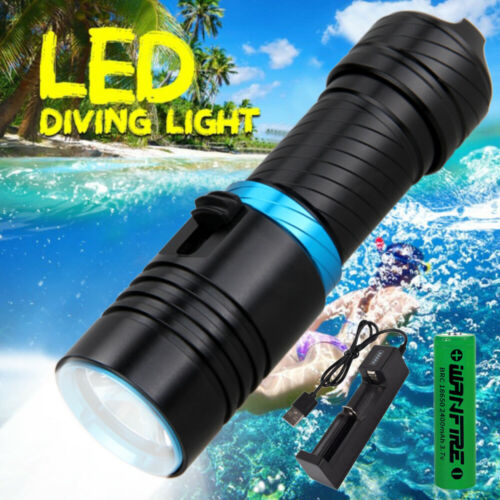 Underwater Waterproof P50 flashlight Diving Torch Light Lamp Outdoor Scuba Sport