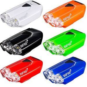 Infini Lava Super Bright Micro USB Front Light With QR bracket / Cycle Lamp