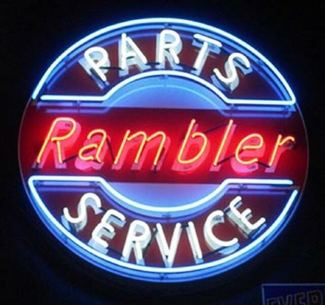 """New Rambler Parts Service Neon Light Sign 24\""""x24\"""" Real"""