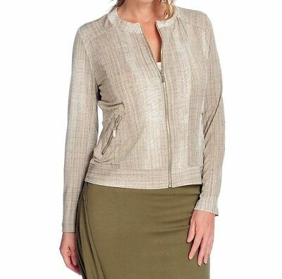 NEW V by Vanessa Williams Ponte Knit Stand Collar Button Front Cape Jacket