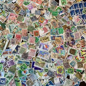 ASIA-STAMPS-OFF-PAPER-LOT-THAILAND-JAPAN-KOREA-CHINA-AND-HONG-KONG