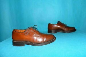 chaussures derbies FAIRMOUNT made USA vintage en cuir marron p 6,5 us ou 40 fr