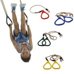 Paar Kinder Crossfit Turnring Gymnastikringe Kunststoff Gymnastik Rings Fitness