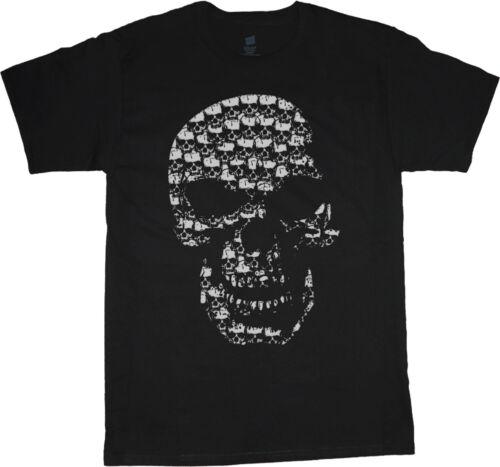 big and tall t-shirt skull made of skulls biker tee shirt tall shirt men/'s