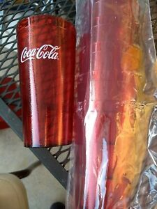 6 Brand New Ruby Red Plastic Restaurant Tumblers Cups  20 oz Coca Cola