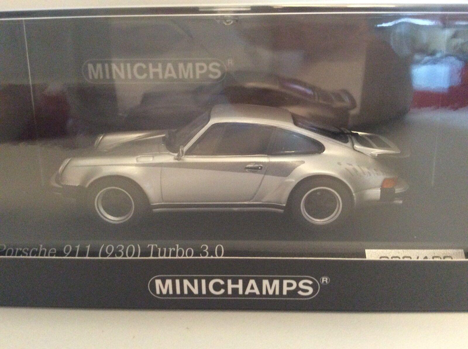 MINICHAMPS 1 43  PORSCHE 911 930 Turbo 3.0 Argent voituretima SeuleHommest 100 Pièces Nouveau neuf dans sa boîte  les clients d'abord la réputation d'abord