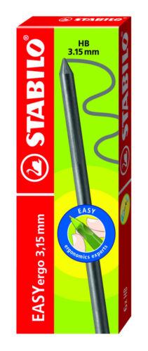 6X Stabilo Easyergo 3.15mm Hb Portaminas Recarga Cables
