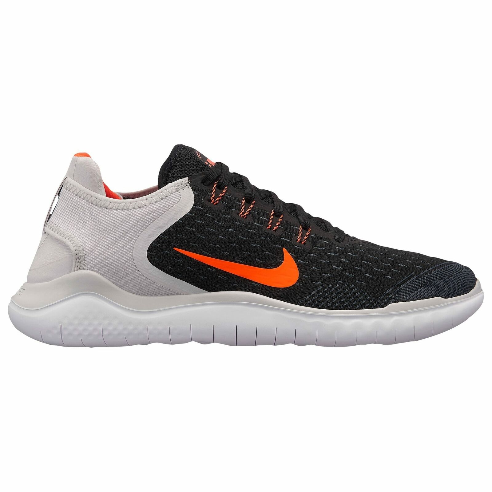 Nike Free RN 2018 Mens Black Total Crimson Vast Grey White Anthracite 42836005