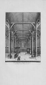 Antique-map-De-nieuwe-zyds-kapel-van-binnen-naar-039-t-westen-te-zien