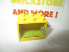 1x Lego Panel Yellow 2x3x2 Door Transparent Blue Box Container 4533 4532a