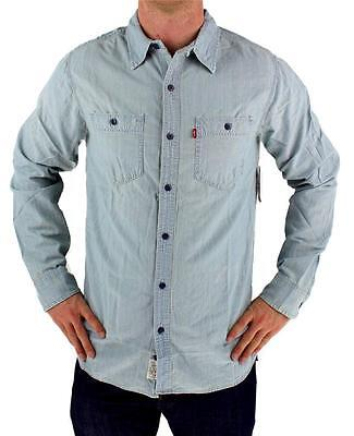 NEW NWT LEVI'S MEN'S LONG SLEEVE BUTTON UP CASUAL DRESS SHIRT BLUE 8151700