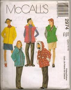 Pull-On Pants And Skirt McCall/'s 8674 Misses/' Unlined Jacket Vest