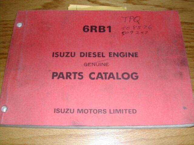 isuzu 6rb1 parts catalog manual book engine diesel guide spare part rh ebay com isuzu 6rb1 workshop manual 2017 Isuzu Trooper