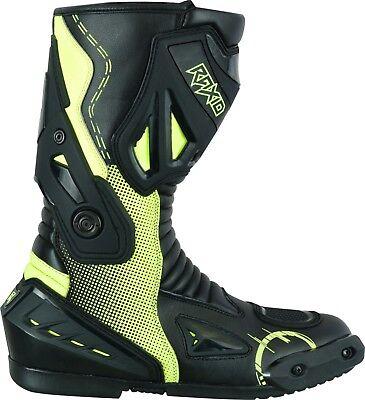 Motorcycle Waterproof Motorbike Leather Boots Sport Racing Mens Touring Fluro